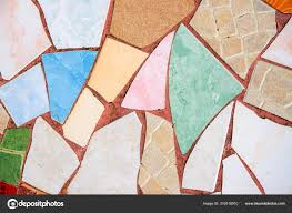 colorful ceramic mosaic floor creative recycled mosaic top view photo bathroom or kitchen floor design idea 310516910