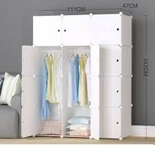 megafuture wood pattern portable wardrobe closet for hanging clothes combinati