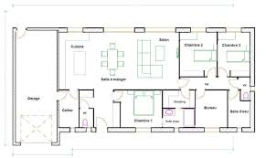 plan maison plain pied gratuit 3 chambres maison plain pied 120m2