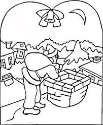 Merry Christmas Coloring Pages Village