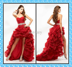 2013 high low prom dress ball gown sweetheart red black pink