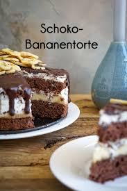 schoko bananen torte