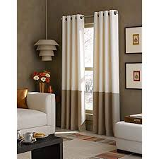 Curtainworks Kendall Color Block Grommet Curtain Panel 84 Inch Ivory