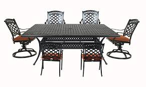 Amazon.com: Summerset St. Tropez 7-Piece Cast Aluminum ... Amazoncom Tk Classics Napa Square Outdoor Patio Ding Glass Ding Table With 4 X Cast Iron Chairs Wrought Iron Fniture Hgtv Best Ideas Of Kitchen Cheap Table And 6 Chairs Lattice Weave Design Umbrella Hole Brown Choice Browse Studioilse Products Why You Should Buy Alinum Garden Fniture Diffuse Wood Top Cast Emfurn Nice Arrangement Small For Balconies China Seats Alinium And Chair Modway Eei1608brnset Gather 5 Piece Set Pine Base