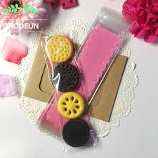 50pcs Lot 620 3cm Pink Lace Biscuits OPP DIY Gift Plastic Bag