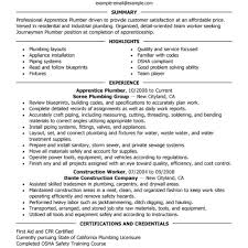 Plumber Cv Resumes Plumbing Template Foreman Resume Templates Apprentice Assistant Examples Objective Plumbers Job Achievable Concept