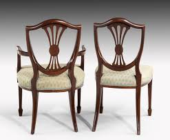 Set Of Twelve (Ten + Two) Hepplewhite Style Mahogany Dining ... 4 Hepplewhite Style Mahogany Yellow Floral Upholstered Ding Chairs Style Ding Table And Chairs Pair George Iii Mahogany Armchairs Antique Set Of 8 English Georgian 12 19th Century Elegant Mellow Edwardian Design Antiques World 79 Off Wood Hogan Side Chair Eight Late 18th Of