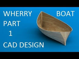 wooden boat project designing the half hull model in solidworks