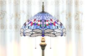 Tiffany Style Glass Torchiere Floor Lamp by Tiffany Style Dragonfly Floor Lamp With Torchiere 14 Shade Largest