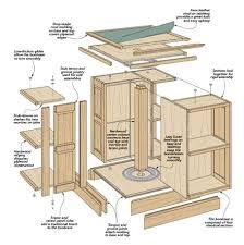 revolving bookcase woodsmith plans