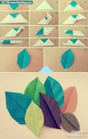 How To Make Paper Craft Origami Leaves Step Diy Tutorial