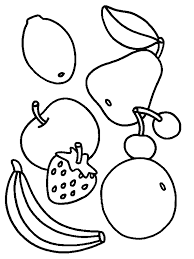 Fruit Coloring Pages Food