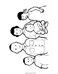 Happy Family Colouring Pages