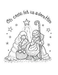 Nativity Coloring Sheets Scene Pages Pdf Lds Full Size