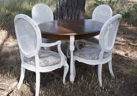 French Country Dining Set Refinished Painted Vintage 1960s Thomasville Ding Table Antique Set Of 6 Chairs French Country Kitchen Oak Of Six C Home Styles Countryside Rubbed White Chair The Awesome And Also Interesting Antique French Provincial Fniture Attractive For Eight Cane Back Ding Set Joeabrahamco Breathtaking
