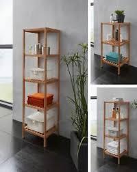 details zu regal badregal bambus 3 4 oder 5 böden massiv badezimmer gäste wc küchenregal