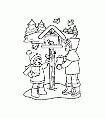 Winter Birds Coloring Pages Kids And In Of
