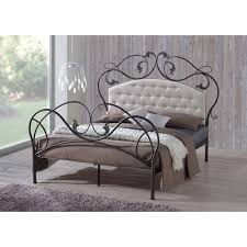 Decorative Black Metal Bed Frame Queen Pretty Black Metal Bed