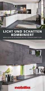 helle küchenzeile mit betondekor küche weiß matt l