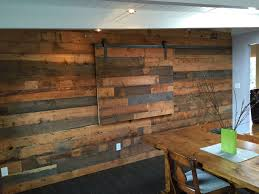Sofa Creations San Rafael by Reclaimed Fir Shiplap Wall With Hidden Tv Slider Cabinetry