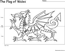 Wales Flag Printout To Color