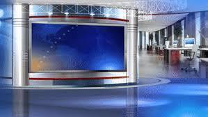 Free Virtual Set Vizrt News Studio Blue HD Business Operation Recording