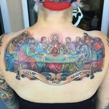The Last Supper Color Tattoo
