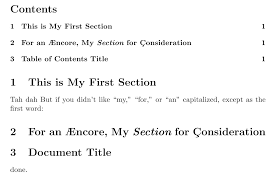 capitalization Capitalising first letter of each word in section