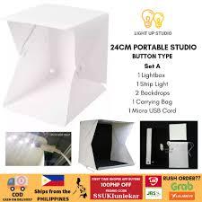 100 Studio Tent Portable BUTTON TYPE Folding Photo Light Box LightBox
