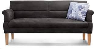 cavadore 3 sitzer sofa mit federkern sitzbank für küche esszimmer inkl armteilfunktion 189 x 94 x 81 kunstleder schwarz