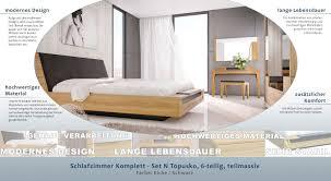 schlafzimmer komplett set n topusko 6 teilig teilmassiv farbe eiche schwarz