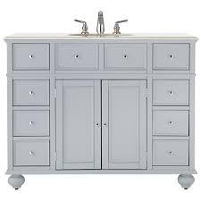 46 Inch White Bathroom Vanity by 38 46 In Vanities With Tops Bathroom Vanities The Home Depot