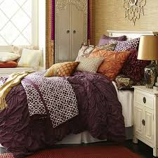 Pier 1s Savannah Duvet Cover Features Ruched Floral Patterns Gathering Up Maximum Glamour