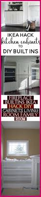fireplace built ins ikea hack diy cabinets living room