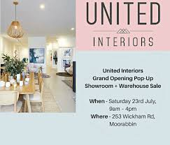 100 Designer Warehouse Sales Melbourne United Interiors Grand Opening PopUp Showroom