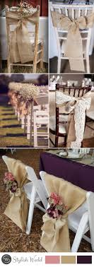 Rustic Wedding Chair Decors With Burlap