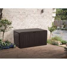 Keter Glenwood Deck Box Assembly by Keter Springwood 80 Gallon All Weather Outdoor Garden Storage Deck