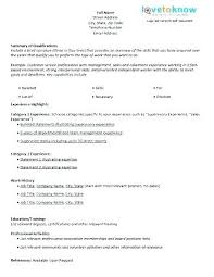Resume Form Format Sample Blank Templates Free Samples Examples