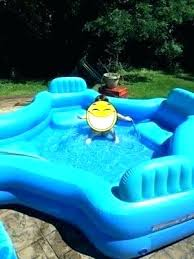 Kiddie Pool Hard Plastic With Slide Wading Relax And Keep Cool Swim Center Family Australia