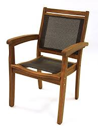 Stack Sling Patio Chair Tan by Amazon Com Outdoor Interiors 10555dk Sling And Eucalyptus