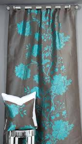teal and grey blackout curtains teal coral and gray shower curtain