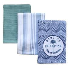Tommy BahamaR Palm Tree Kitchen Towels Set Of 3