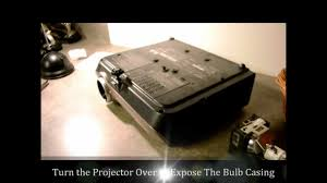 how to change a projector l or projector bulb replacement