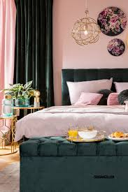 grün trifft rosé schlafzimmer gold grau schlafzimmer