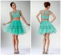 short two pieces prom dress beading sheer back cap sleeve
