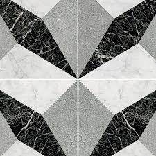Illusion Black White Marble Floor Tile Texture Seamless 14823 Reclaimed And Tiles
