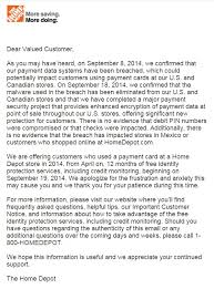 "Home Depot ""Hey Your Credit Card May Have Been Stolen…Two Weeks"