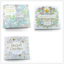 3 Unids Ingles Edicion Secret Garden Sueno Fantasia Reino Animal Coloring Book Children Adultos