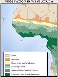 Vegetation In West Africa Map