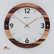 scouts funkwanduhr wood uhr wanduhr küche wohnzimmer diele flur schlafzimmer mit bedrucktem glas in holzoptik ø 30 cm holz